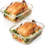 Locking lids glass food containers
